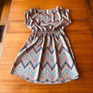 Adorable Aztec Print Poly Summer Dress